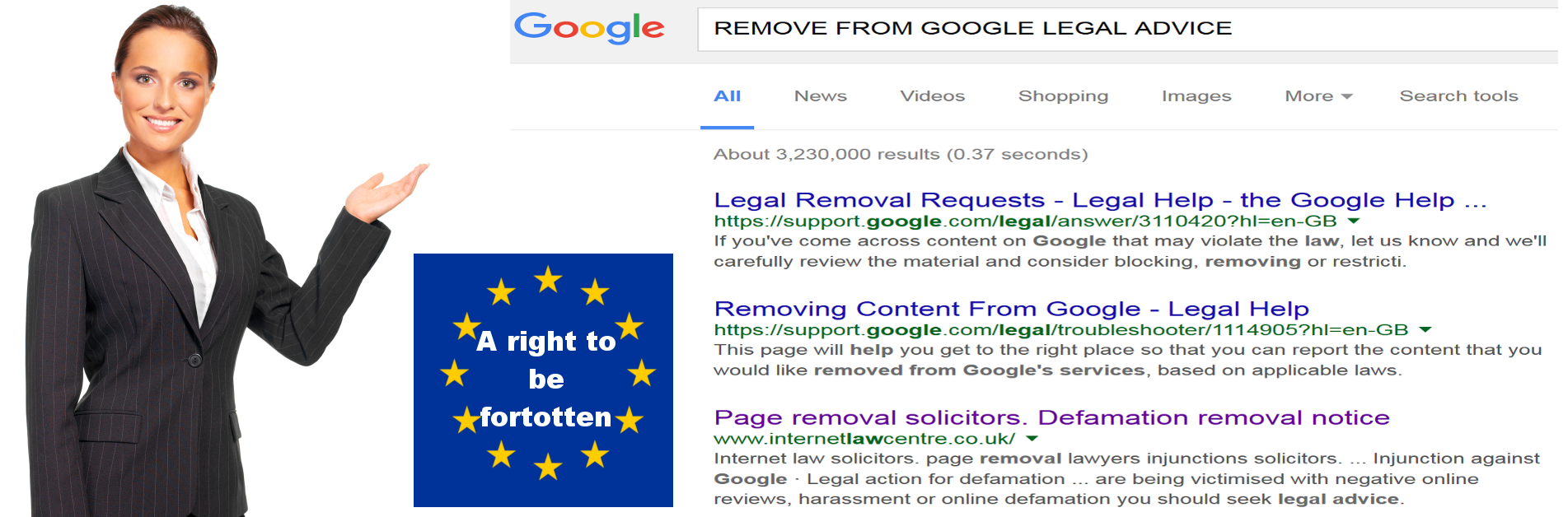 Remove from Google ICO right to be forgotten application solicitor