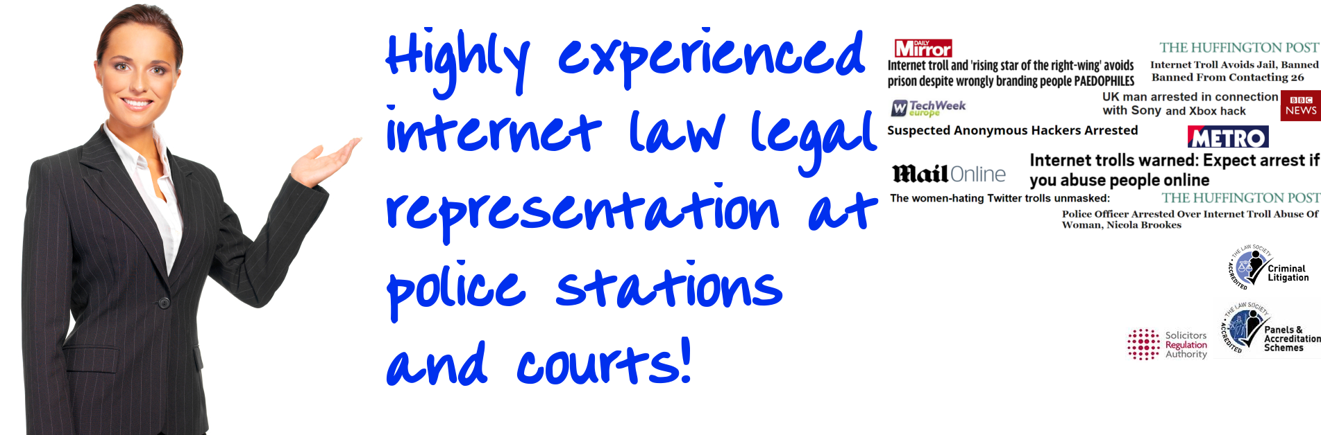Legal representation internet crime